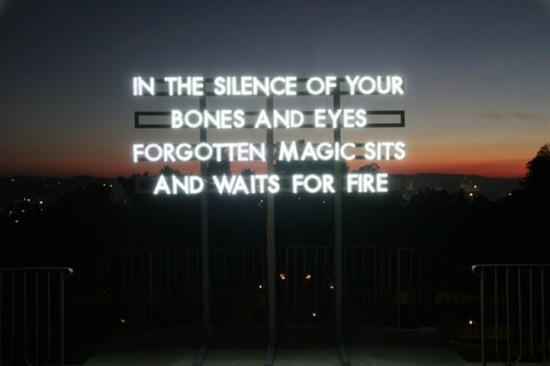 London poet & artist Robert Montgomery's work